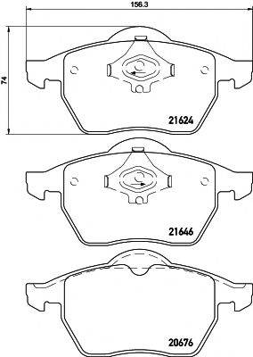 MINTEX MDB2353 Комплект тормозных колодок, дисковый тормоз
