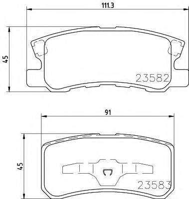 MINTEX MDB2080 Комплект тормозных колодок, дисковый тормоз