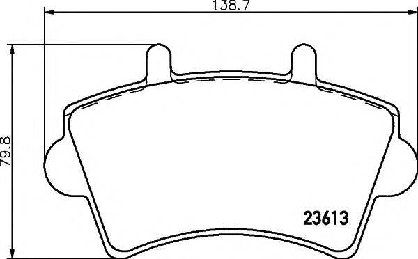 MINTEX MDK0243 Комплект тормозов, дисковый тормозной механизм