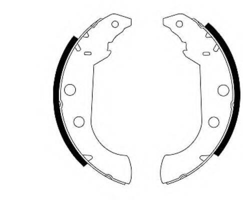 MINTEX MFR266 Комплект тормозных колодок