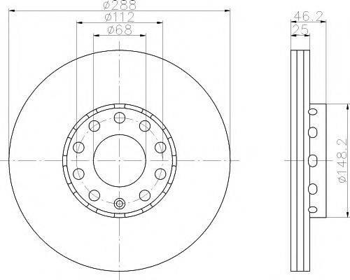 MINTEX MDC768 Тормозной диск