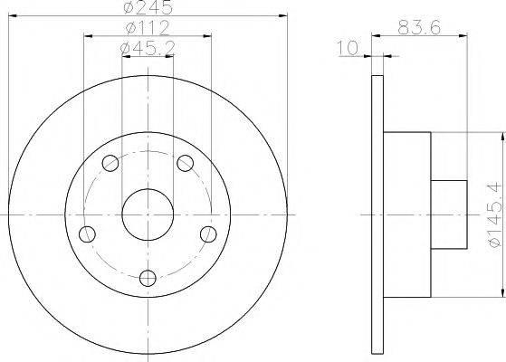 MINTEX MDC830 Тормозной диск