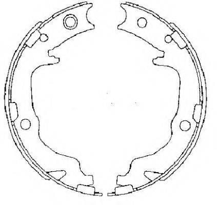 MINTEX MFR683 Комплект тормозных колодок, стояночная тормозная система