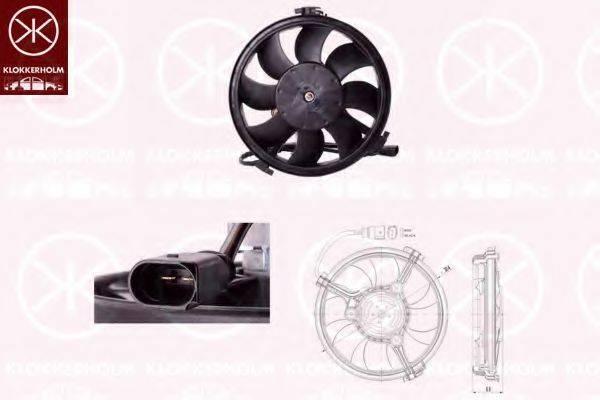 KLOKKERHOLM 95392601 Вентилятор, охлаждение двигателя