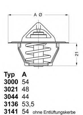 WAHLER 313682D50 Термостат, охлаждающая жидкость
