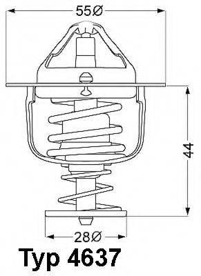 WAHLER 463782D Термостат, охлаждающая жидкость