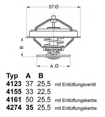 WAHLER 427487D Термостат, охлаждающая жидкость