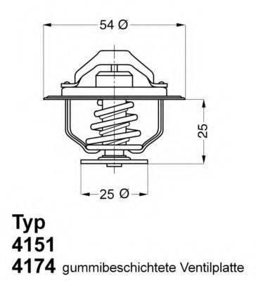 WAHLER 417479D Термостат, охлаждающая жидкость