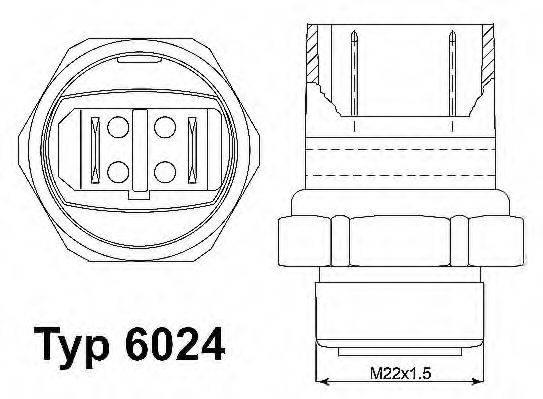 WAHLER 602495D Термовыключатель, вентилятор радиатора