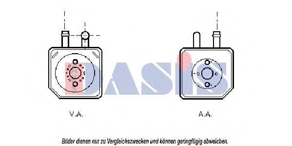 AKS DASIS 046004N масляный радиатор, двигательное масло