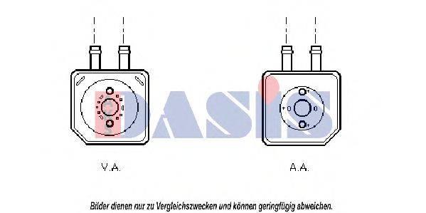 AKS DASIS 046005N масляный радиатор, двигательное масло