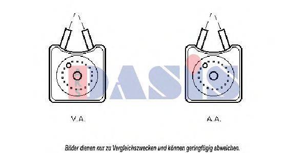 AKS DASIS 046110N масляный радиатор, двигательное масло