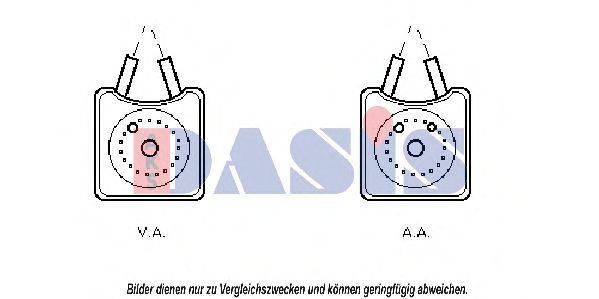 AKS DASIS 046130N масляный радиатор, двигательное масло