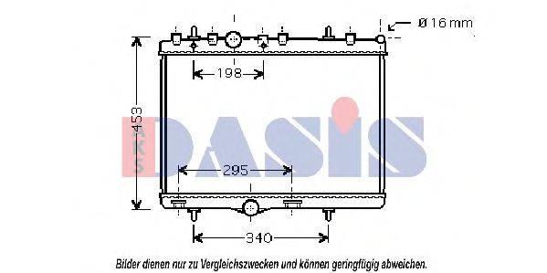 AKS DASIS 060051N Радиатор, охлаждение двигателя