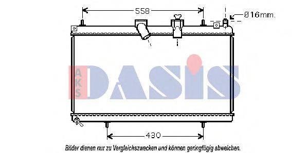 AKS DASIS 060059N Радиатор, охлаждение двигателя