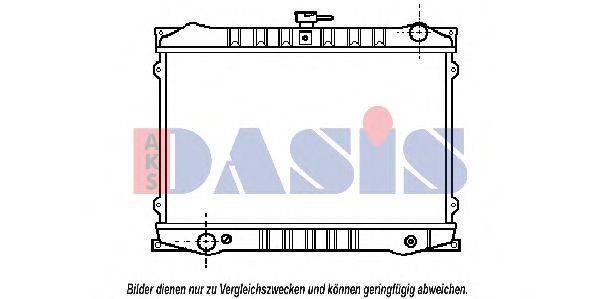AKS DASIS 070300N Радиатор, охлаждение двигателя