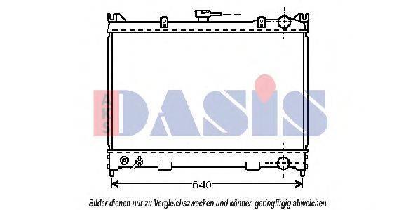 AKS DASIS 071400N Радиатор, охлаждение двигателя