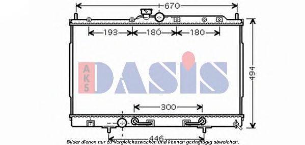AKS DASIS 140085N Радиатор, охлаждение двигателя