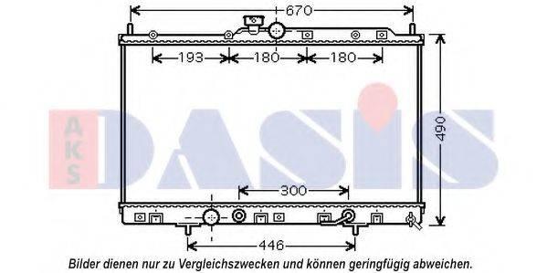 AKS DASIS 140104N Радиатор, охлаждение двигателя
