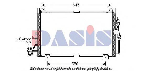AKS DASIS 142028N Конденсатор, кондиционер