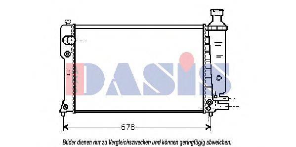AKS DASIS 160710N Радиатор, охлаждение двигателя