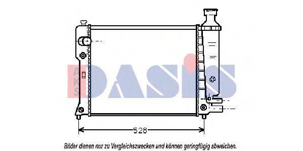 AKS DASIS 161220N Радиатор, охлаждение двигателя