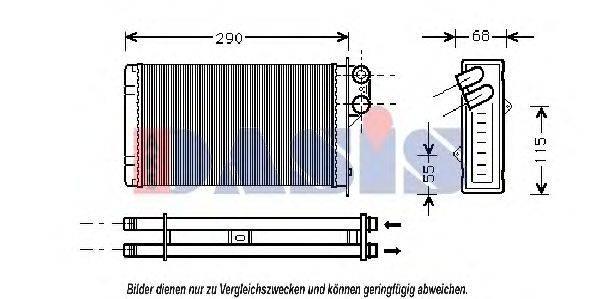 AKS DASIS 169100N Теплообменник, отопление салона