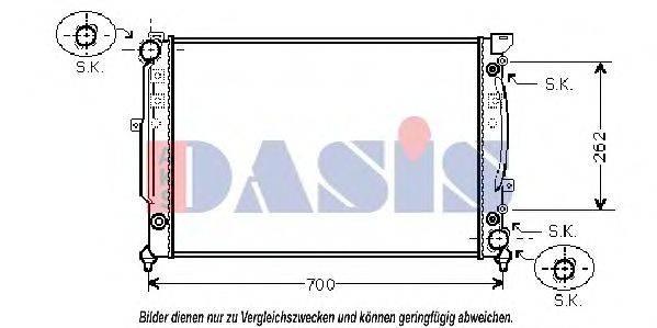 AKS DASIS 480011N Радиатор, охлаждение двигателя