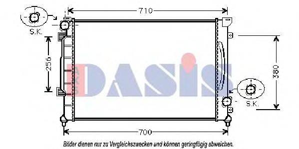 AKS DASIS 480140N Радиатор, охлаждение двигателя