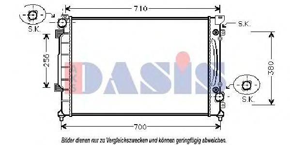 AKS DASIS 480150N Радиатор, охлаждение двигателя