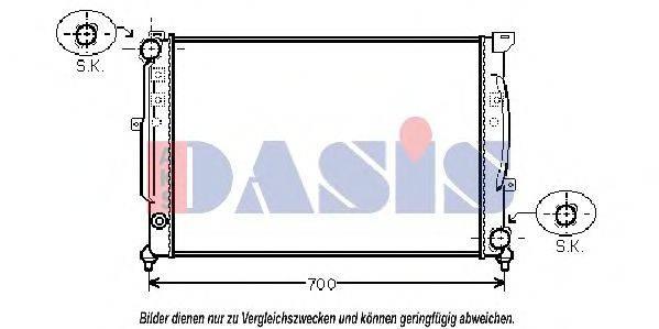 AKS DASIS 480950N Радиатор, охлаждение двигателя