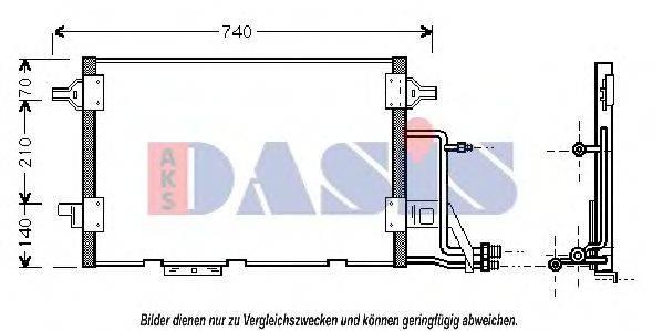 AKS DASIS 482220N Конденсатор, кондиционер