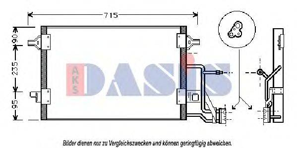 AKS DASIS 482240N Конденсатор, кондиционер