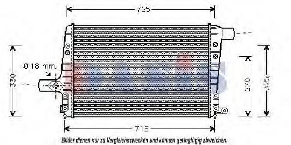 AKS DASIS 487060N Интеркулер