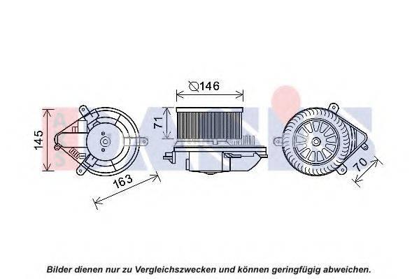 AKS DASIS 740193N Электродвигатель, вентиляция салона