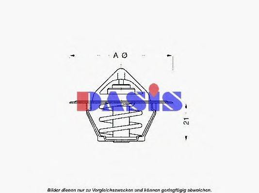 AKS DASIS 750939N Термостат, охлаждающая жидкость