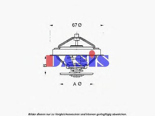 AKS DASIS 750953N Термостат, охлаждающая жидкость