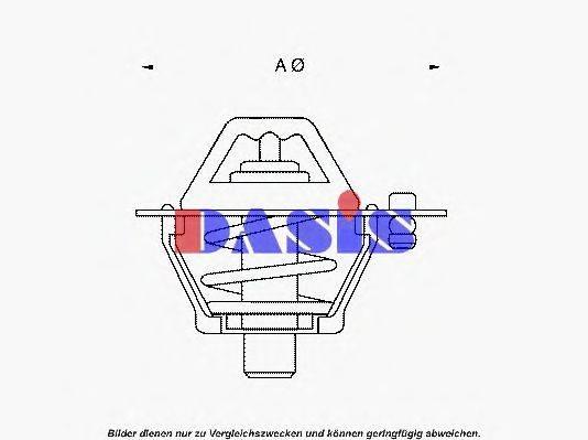 AKS DASIS 750967N Термостат, охлаждающая жидкость