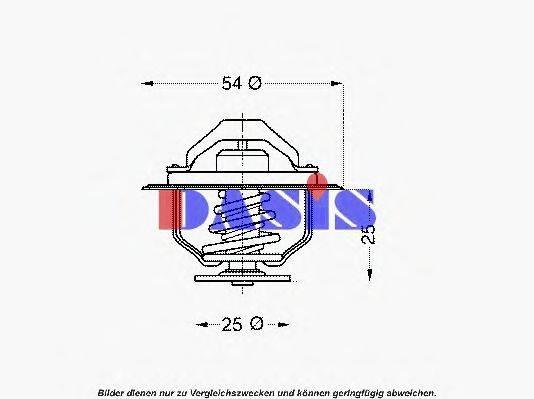 AKS DASIS 751900N Термостат, охлаждающая жидкость