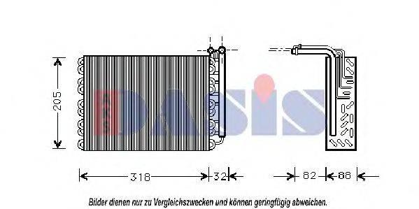 AKS DASIS 821840N Испаритель, кондиционер