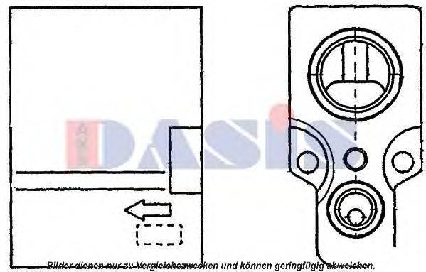 AKS DASIS 840104N Расширительный клапан, кондиционер