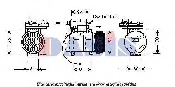 AKS DASIS 850390N Компрессор, кондиционер