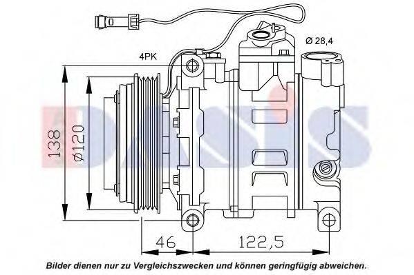 AKS DASIS 850866N Компрессор, кондиционер
