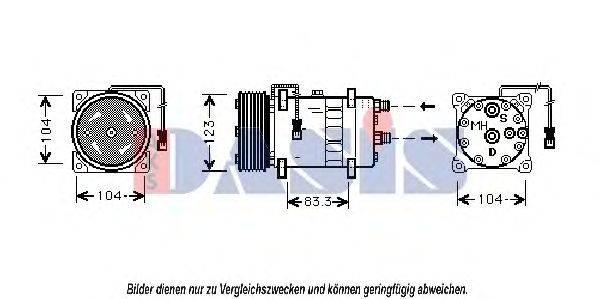 AKS DASIS 851300N Компрессор, кондиционер