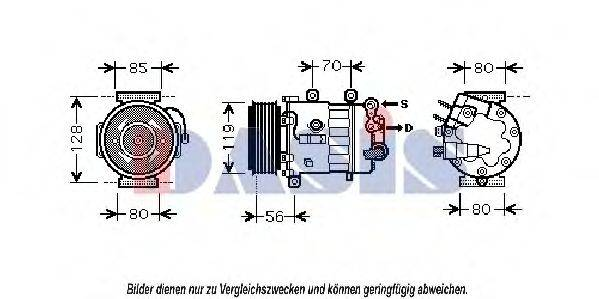 AKS DASIS 851870N Компрессор, кондиционер
