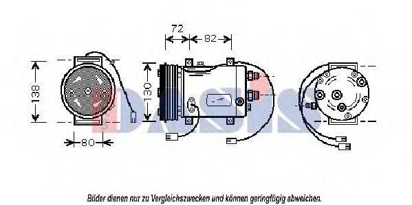 AKS DASIS 858320N Компрессор, кондиционер