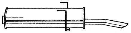 AKS DASIS SG45604 Глушитель выхлопных газов конечный