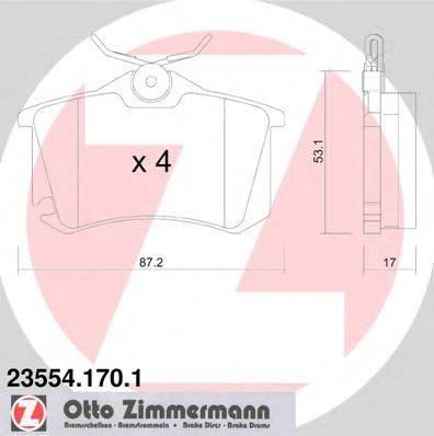 ZIMMERMANN 235541701 Комплект тормозных колодок, дисковый тормоз