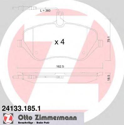 ZIMMERMANN 241331851 Комплект тормозных колодок, дисковый тормоз