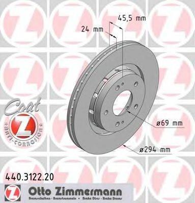ZIMMERMANN 440312220 Тормозной диск